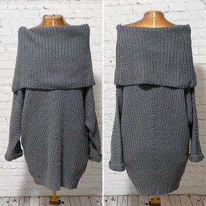 Umgee Slouchy Off Shoulder Sweater